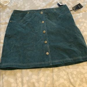 Faux suede forever 21 skirt